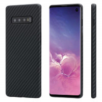 Чехол PITAKA MagEZ Case для Samsung Galaxy S10+ (Plus) чёрный карбон - Twill (KS1001S)