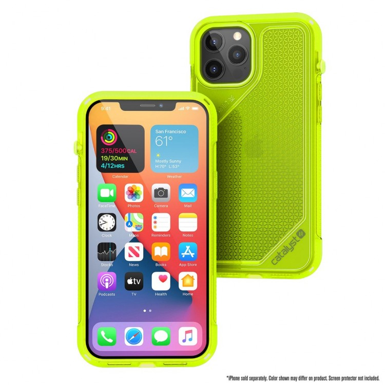 Чехол Catalyst Vibe Series Case для iPhone 12 / 12 Pro желтый неон (Neon Yellow)