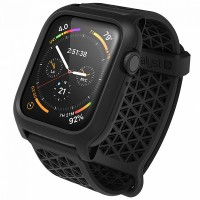 Чехол c ремешком Catalyst Impact Protection Case для Apple Watch 44 мм Series 4/5/6/SE, черный (Stealth Black)