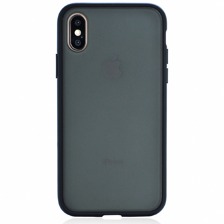 Чехол Gurdini Shockproof Touch Series для iPhone X / iPhone Xs чёрный
