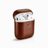 Чехол iCarer Vintage Leather Case для AirPods коричневый