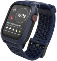 Чехол c ремешком Catalyst Impact Protection Case для Apple Watch 44 мм Series 4/5/6/SE, темно-синий (Midnight Blue)